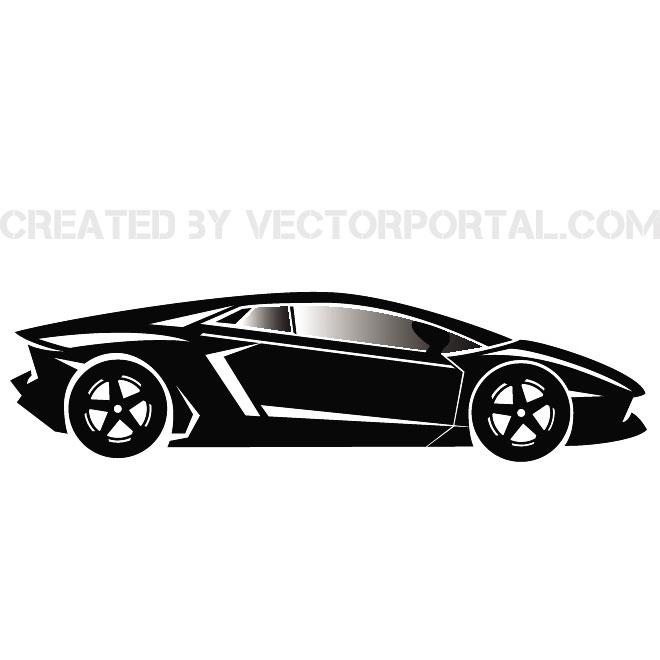 660x660 Luxury Car Vector Image