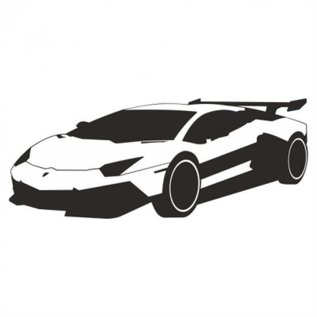 626x626 Luxurious Sports Car Vector Illustration Vector Free Download