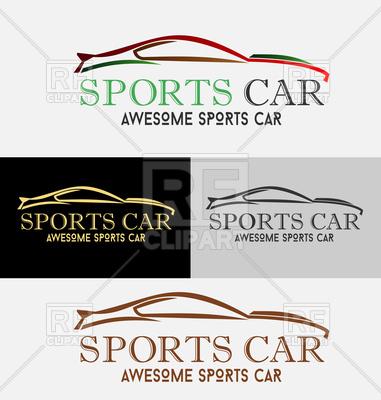 381x400 Auto Company Design Concept With Sports Car Vector Image Vector
