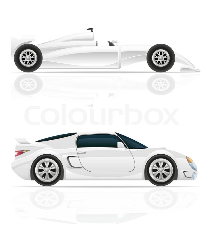 724x800 Sport Car Vector Illustration Isolated On White Background Stock