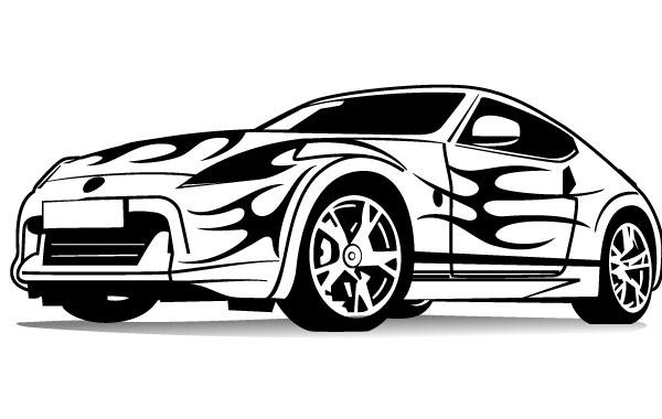 600x380 Sports Car Vector Vector Free Download