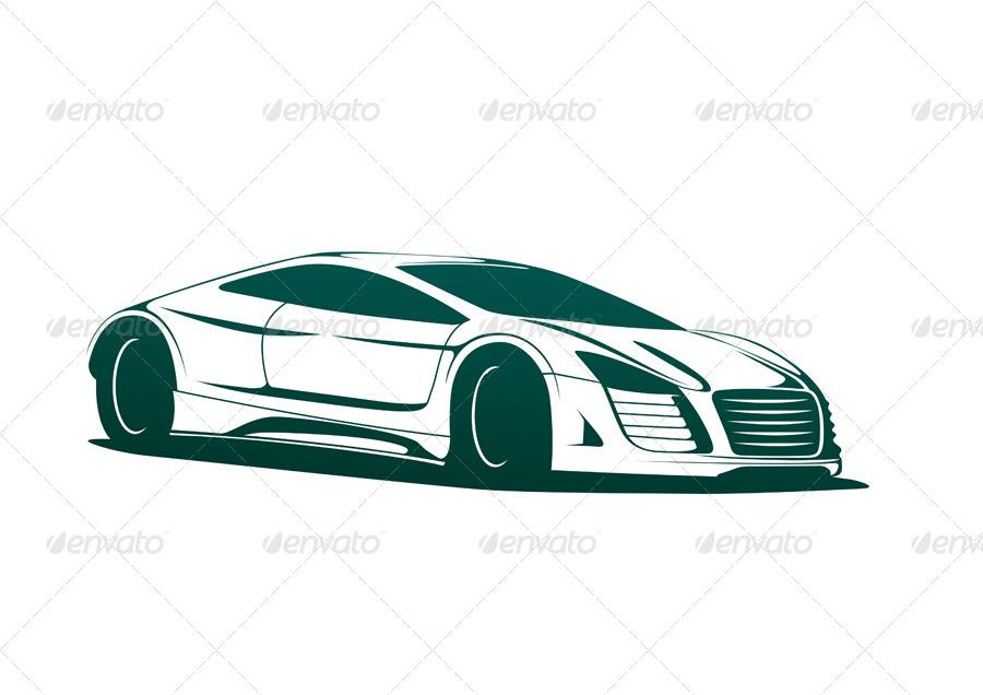 900x636 Sports Car Vector By Seyyah54 Graphicriver