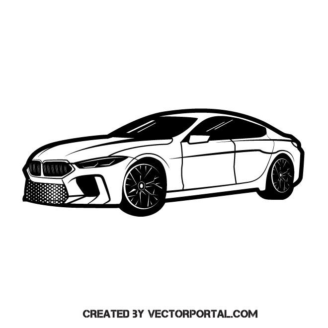 660x660 Sports Car Vector Graphics