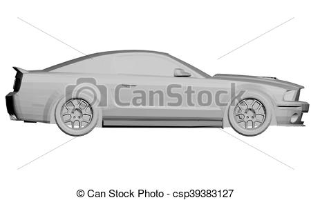 450x290 Sports Car. Vector Illustration Of A Sports Car. 3d. Isolated.