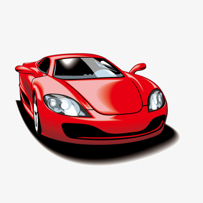 650x651 Vector Red Luxury Sports Car, Car Vector, Sports Clipart, Car