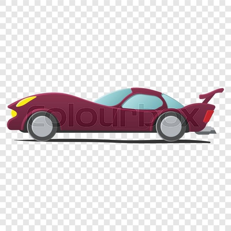 800x800 Cartoon Car Isolated On Transparent Background. Sportscar Stock