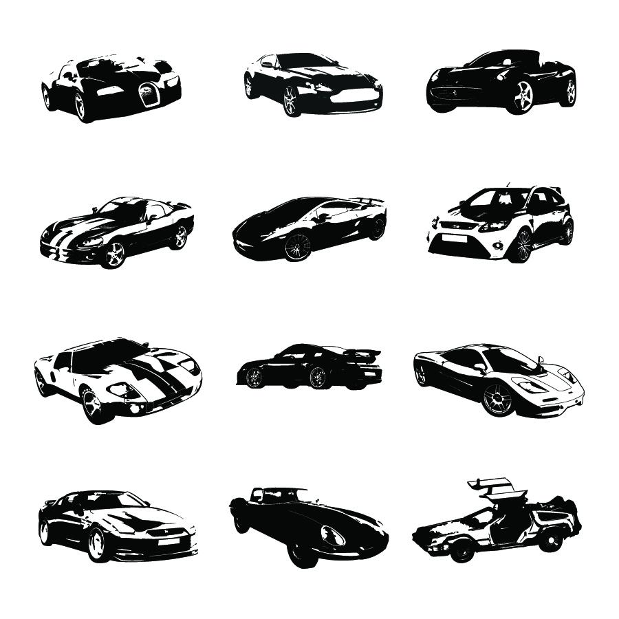 900x900 Free Vector Silhouettes Of Sports Cars Ian Barnard