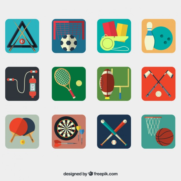 626x626 Sport Equipment Collection Vector Free Download