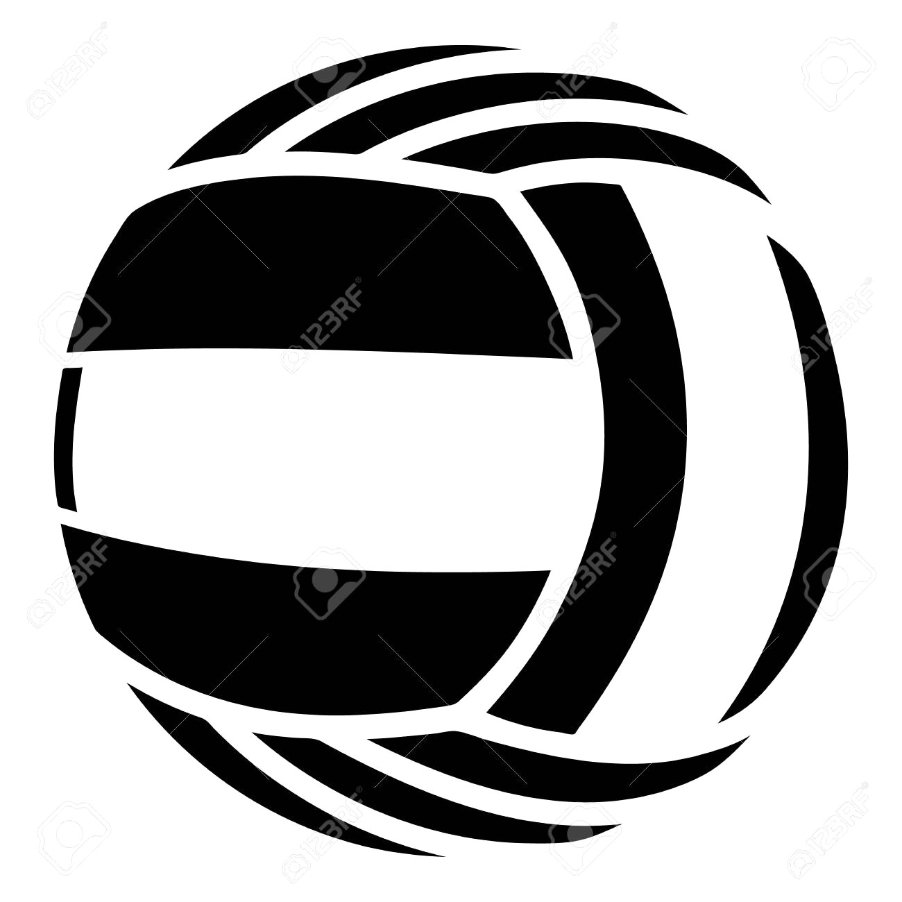 1300x1300 97639700 Sports Equipment Volleyball Vector Illustration Isolated