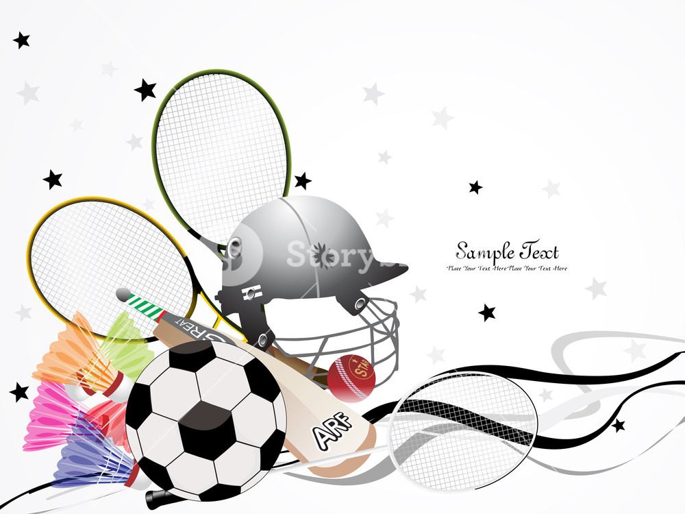 1000x750 Vector Sports Background Royalty Free Stock Image