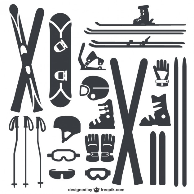 626x626 Winter Sports Equipment Pack Vector Free Vector Download In .ai