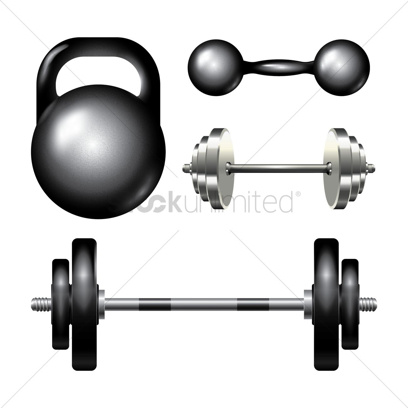 1300x1300 Collection Of Gym Equipment Vector Image