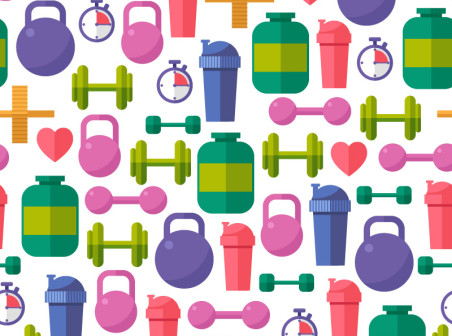 452x336 Fitness Equipment Background Vector Free Vector Background Download