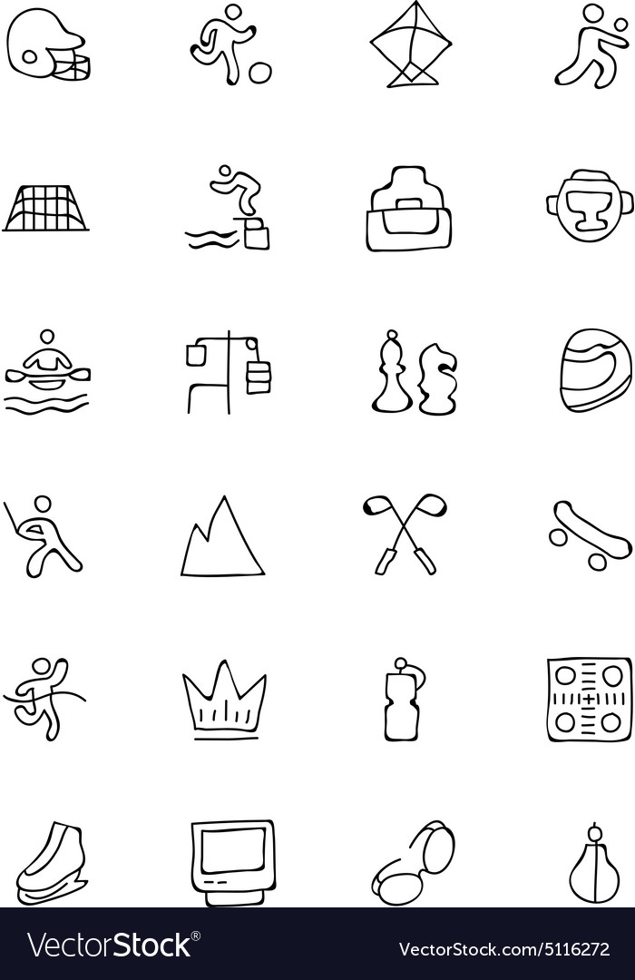 700x1080 12 Sports Icons Vector Free