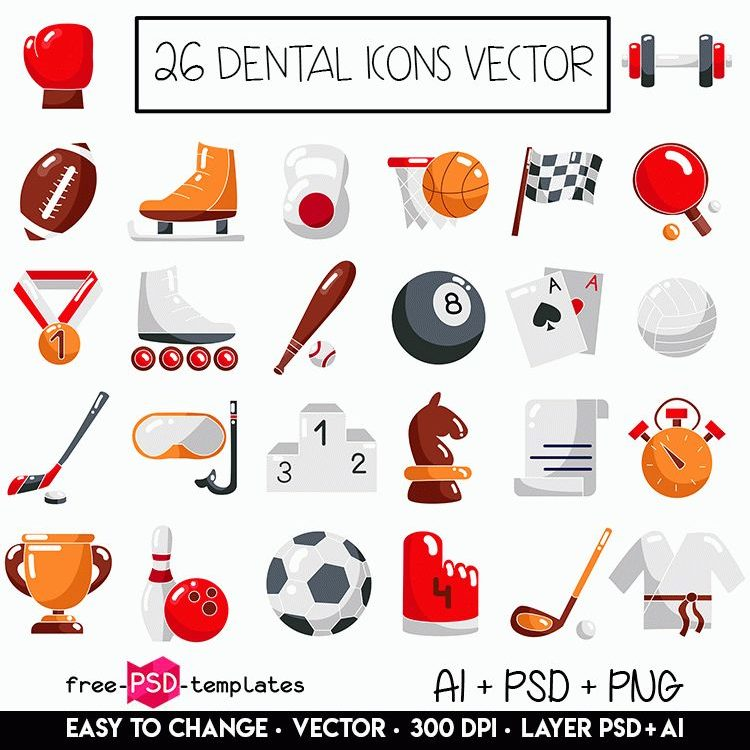 750x750 Pack Of 26 Sports Icon Vector