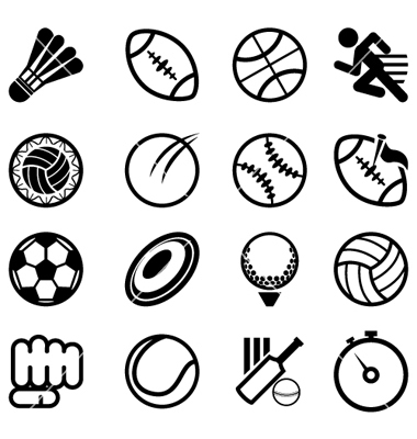 380x400 15 Free Vector Sports Icons Images