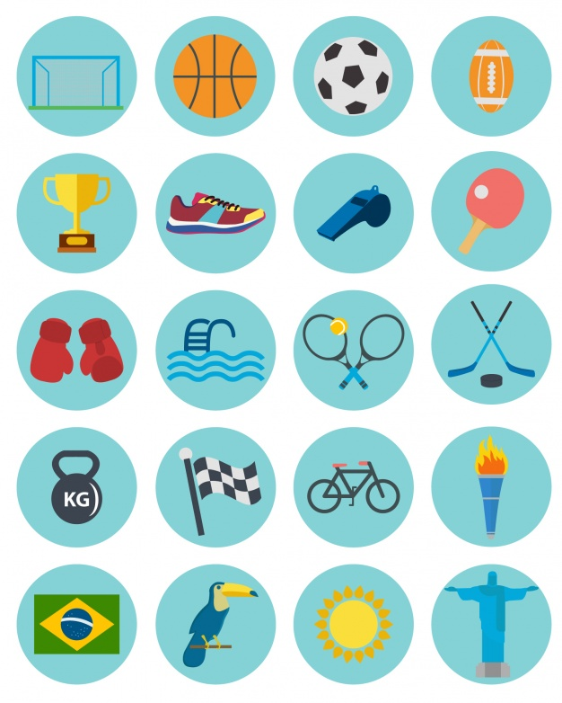 626x782 Sport Icons Collection Vector Free Download