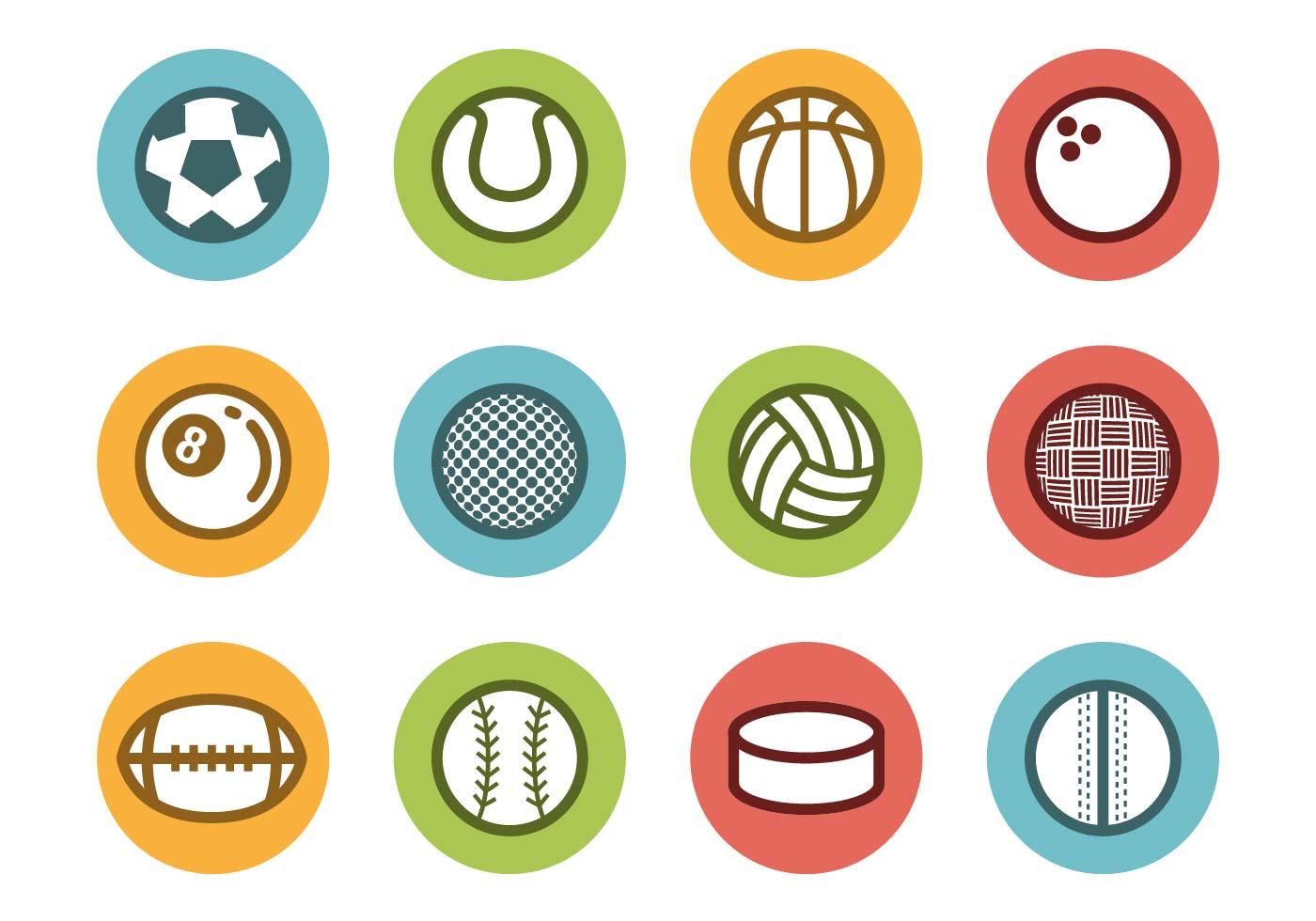 1400x980 Sports Balls Free Vector Art