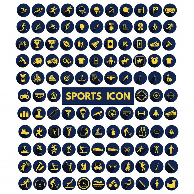 626x626 Sports Icons Collection Vector Free Download