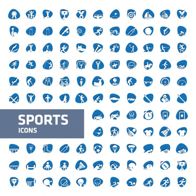 626x626 Blue And White Sport Icon Collection Vector Free Download