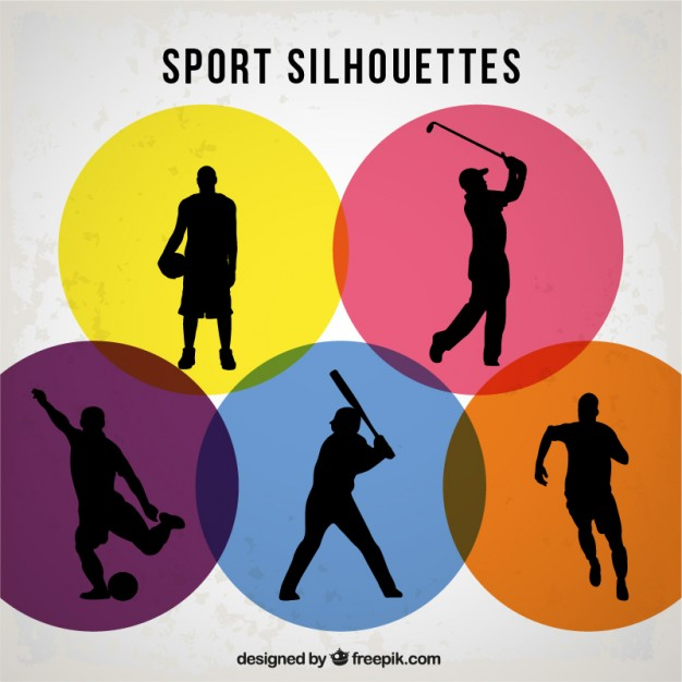 626x626 Sports Players Silhouettes Vector Free Download