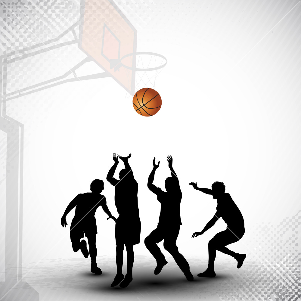 1000x1000 Basketball Vector Art Download
