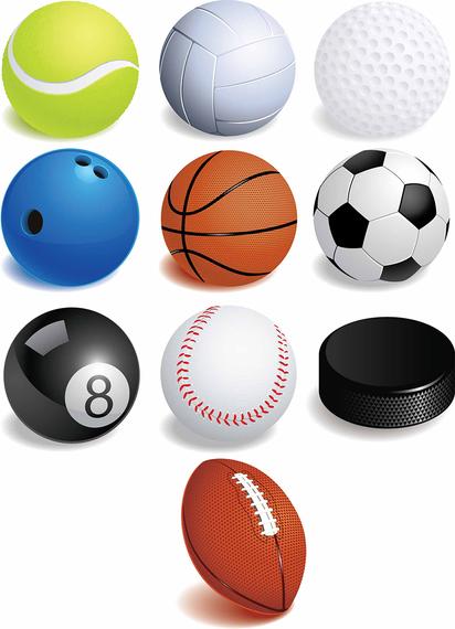 412x570 Free Sport Balls Vector Graphics