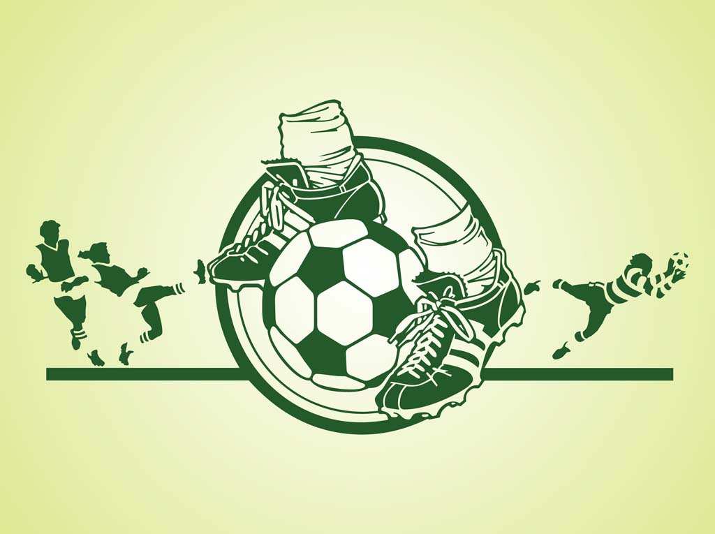 1024x765 Soccer Vector Graphics