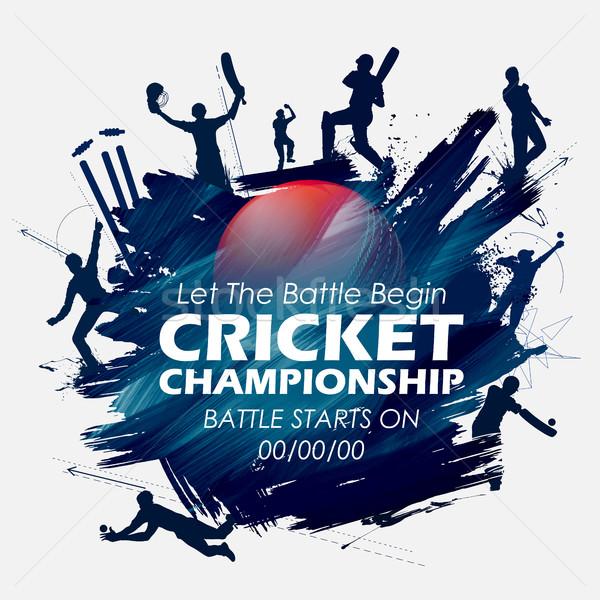 600x600 Batsman And Bowler Playing Cricket Championship Sports Vector
