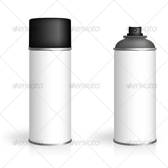 590x590 Aerosol Spray Can Vector Spray Can With White Label For You To Add
