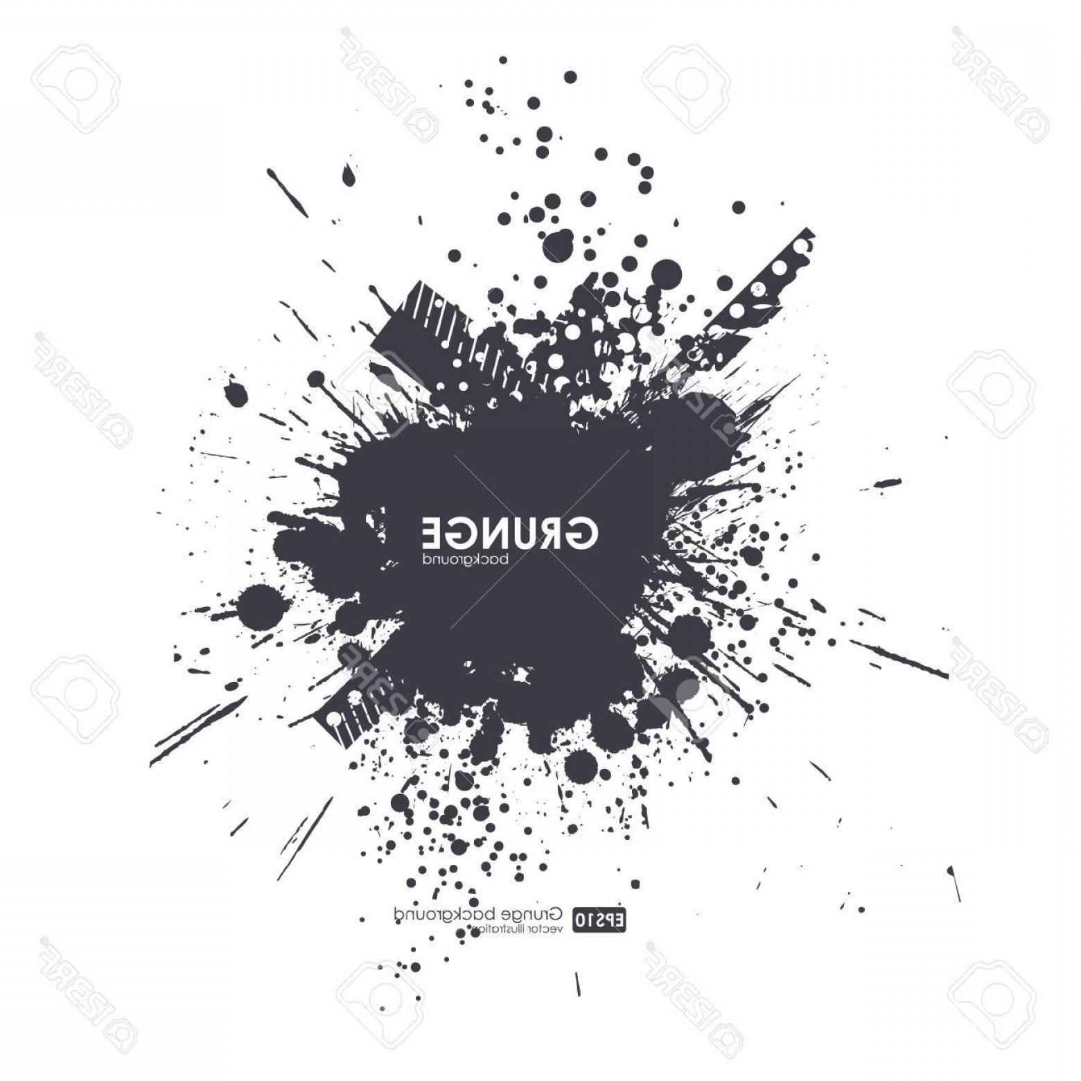1560x1560 Photostock Vector Splatter Background Black Ink Splats Spray Paint