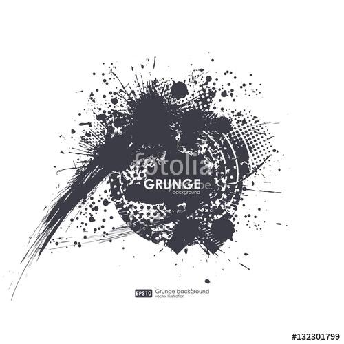 500x500 Splatter Background. Black Ink Splats. Spray Paint Splatters