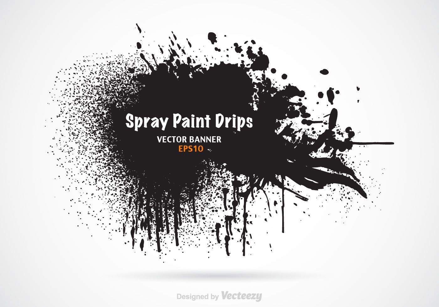 1400x980 Free Grunge Spray Paint Drips And Splashes Vector Banner. With