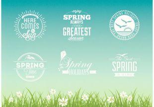 310x217 Retro Spring Break Typographic Vector Illustration Free Vectors