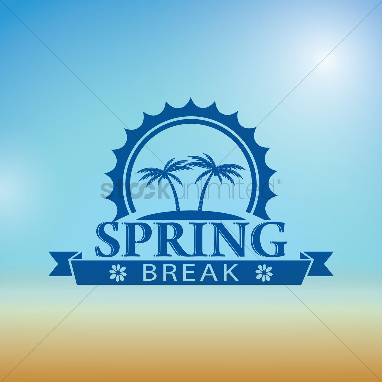 1300x1300 Spring Break Design Vector Image