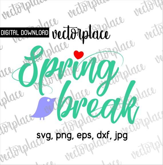 570x574 Spring Break Svg Hello Spring Break Svgspring Svg Spring Etsy