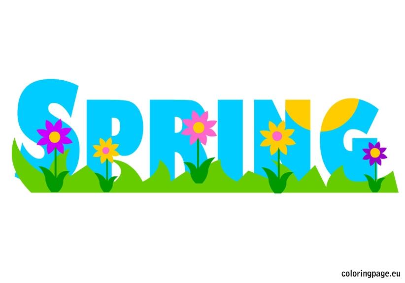 822x575 Springtime Clipart Spring Break ~ Frames ~ Illustrations ~ Hd