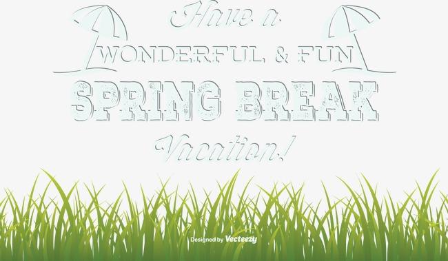 650x379 Vector Illustration Spring Break, Spring Holidays, Vector