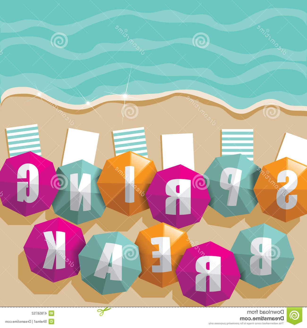 1300x1390 Best 15 Spring Break Umbrellas Beach Eps Vector Illustration Images