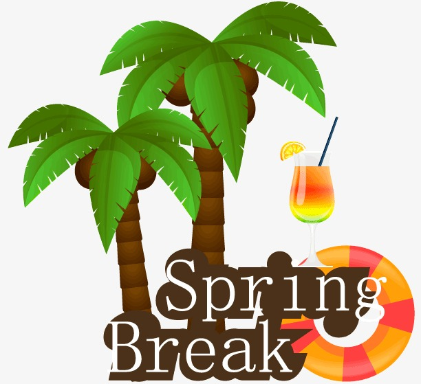 612x559 Creative Spring Break Palm Vector Material, Cocktail, Spring