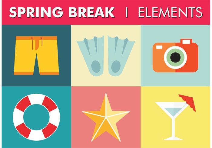700x490 Free Spring Break Elements Vector