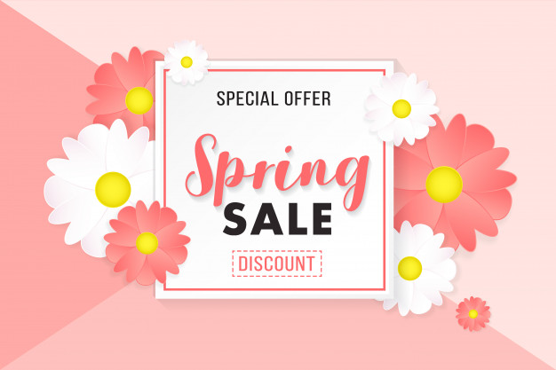 626x417 Promotion Background Poster Banner Spring Sale Vector Premium