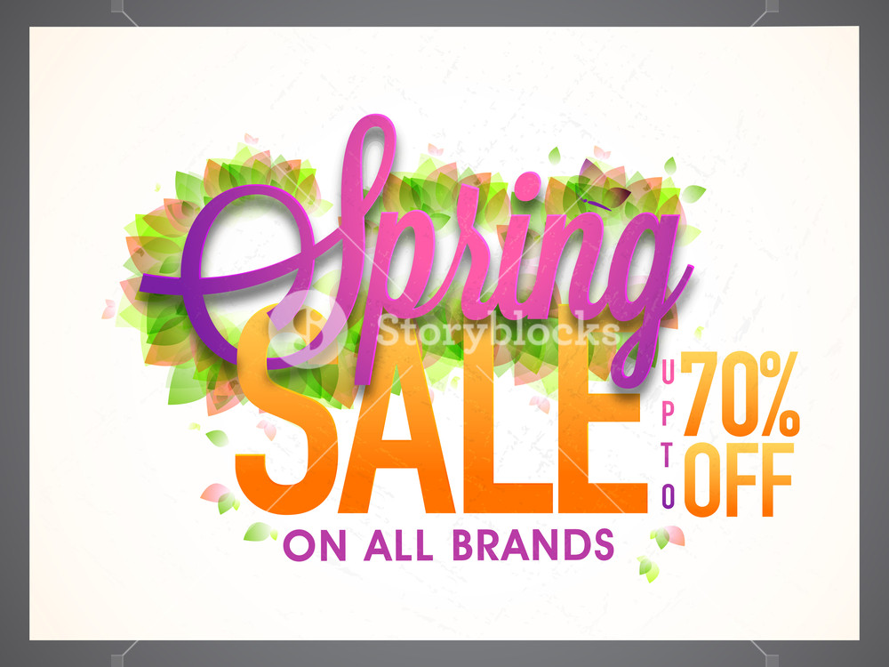 1000x750 Spring Sale Banner, Sale Poster, Sale Flyer, Sale Vector. 70% Off