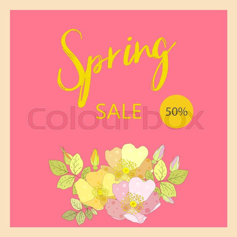800x800 Spring Sale Banner, Sale Poster, Sale Flyer, Sale Vector. Elegant