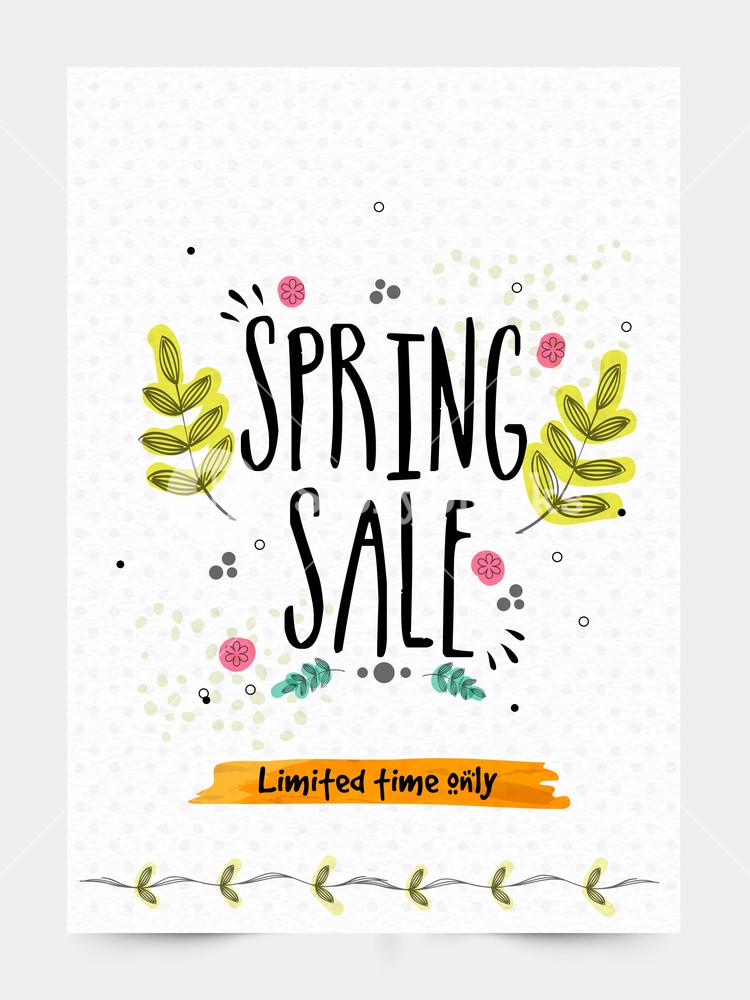 750x1000 Spring Sale Banner, Sale Poster, Sale Flyer, Sale Vector. Royalty