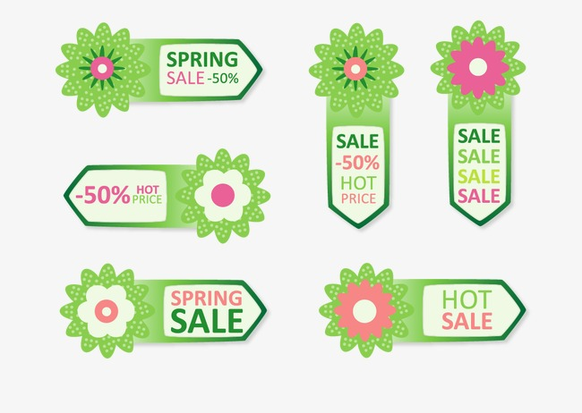 650x462 Spring Sale Promotion Tag, Spring Vector, Sale Vector, Spring