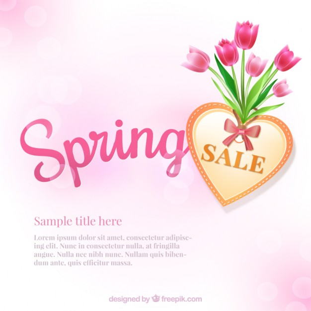 626x626 Spring Sale Background Vector Free Download