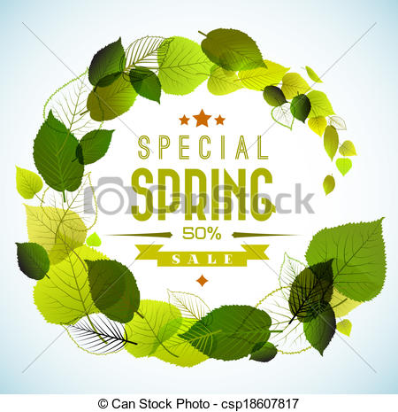 450x465 Spring Sale Vector Background . Spring Sale Vector Poster With