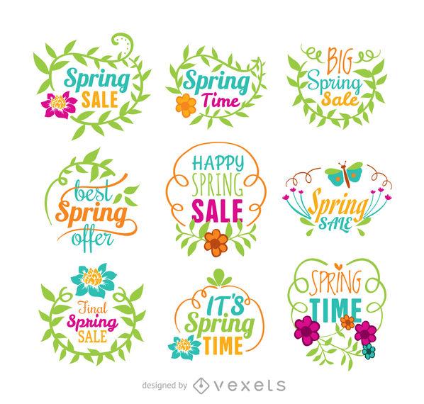 598x570 Spring Sale Vector Set