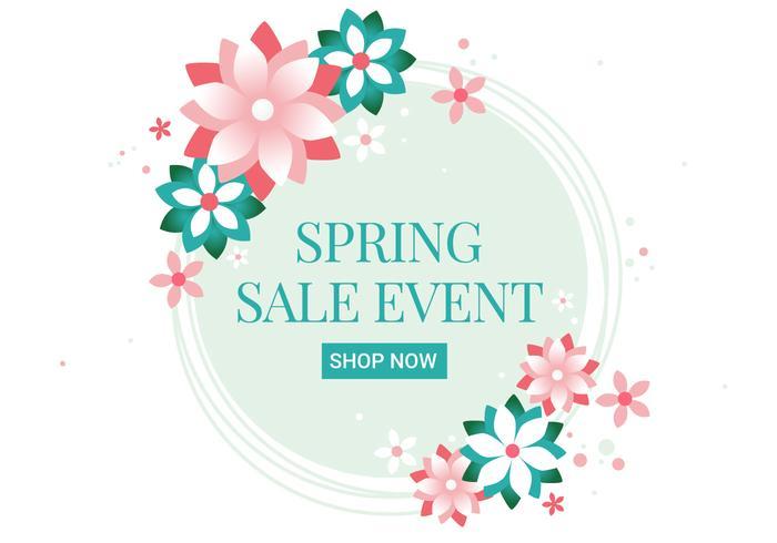 700x490 Free Spring Season Sale Vector Background